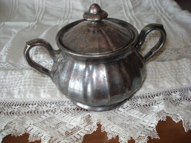 silver hutschenreuther bavaria porcelain sugar bowl ebay. Black Bedroom Furniture Sets. Home Design Ideas