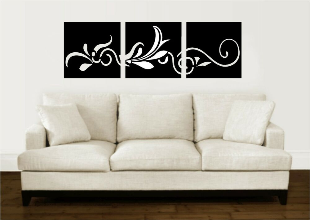 scroll paneling vinyl wall decal word sticker art ebay. Black Bedroom Furniture Sets. Home Design Ideas