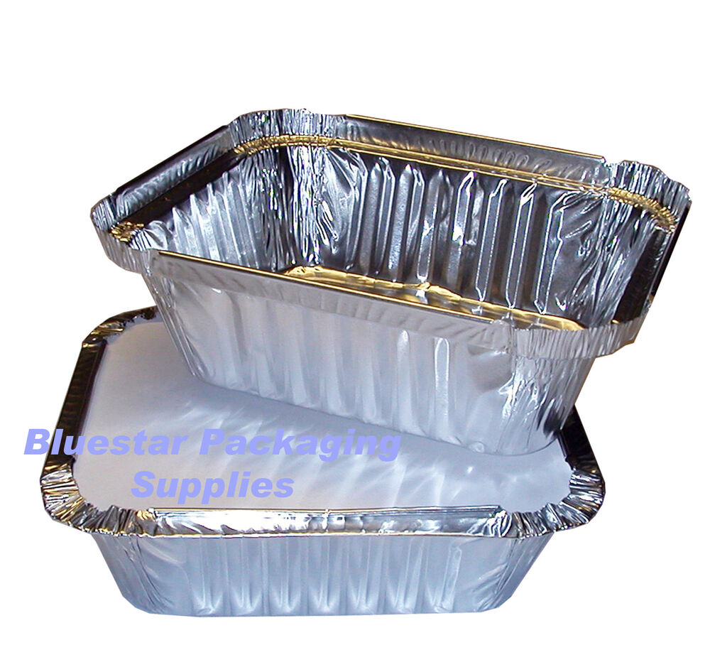 100 x no2 takeaway aluminium foil food containers lids ebay for Cuisine aluminium