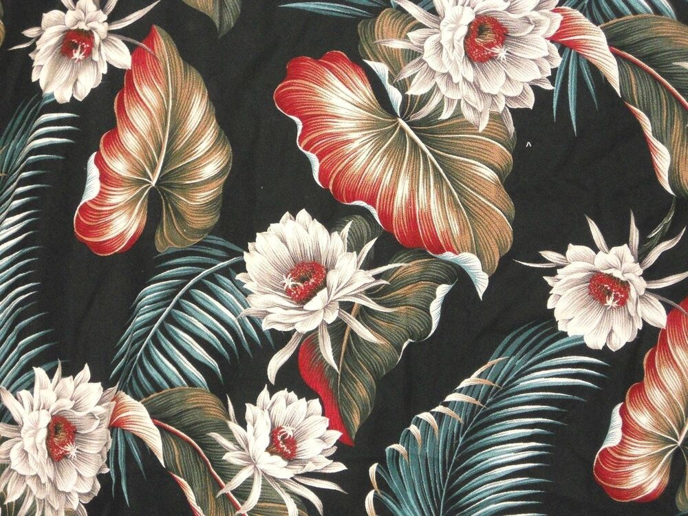 3 Yards Tropical 100 Cotton Barkcloth Upholstery Fabric