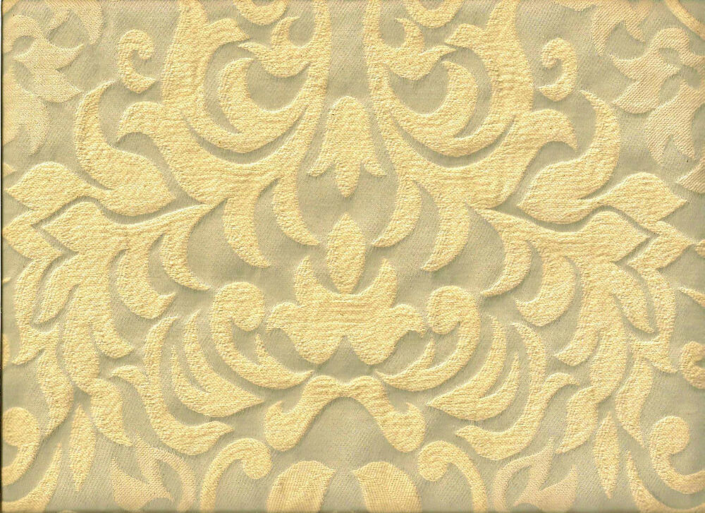 Vintage style pewter gray and cream raised damask for Upholstery fabric