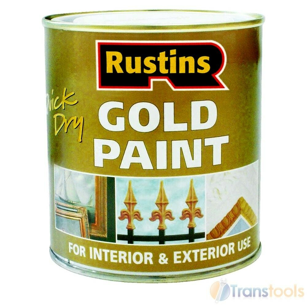 Rustins Quick Drying Gold Paint Wood And Metal 250ml Ebay