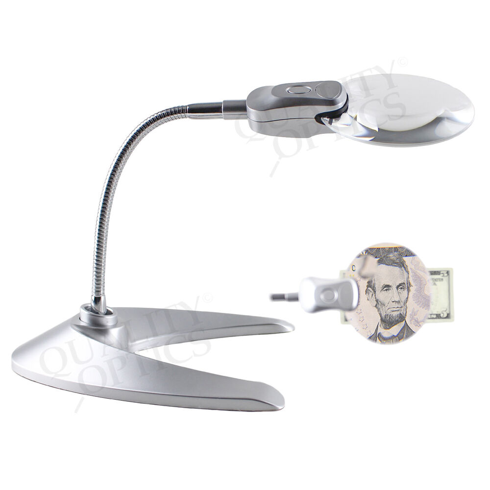 Magnifying Clamp On Desk Lamp