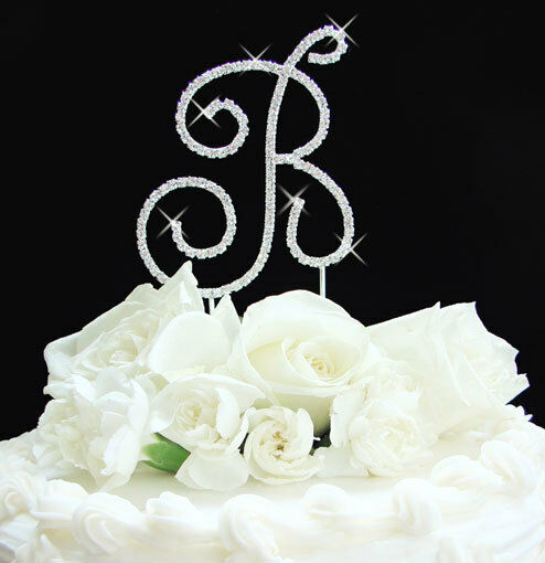 wedding cake toppers initials metal monogram wedding cake topper silver letter ebay 26512