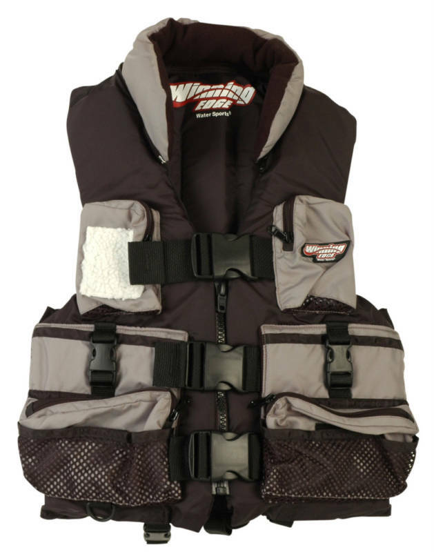 Winning edge deluxe fishing life vest pfd jacket ebay for Inflatable fishing vest