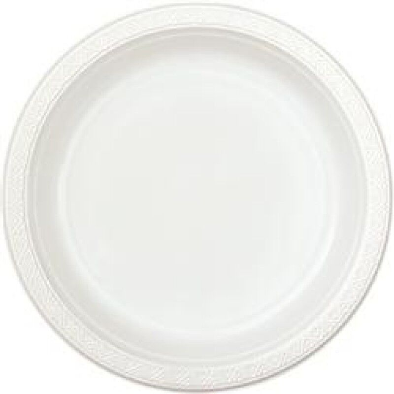 100 X WHITE PLASTIC DISPOSABLE PLATES 9 WEDDING PARTY BBQ EBay
