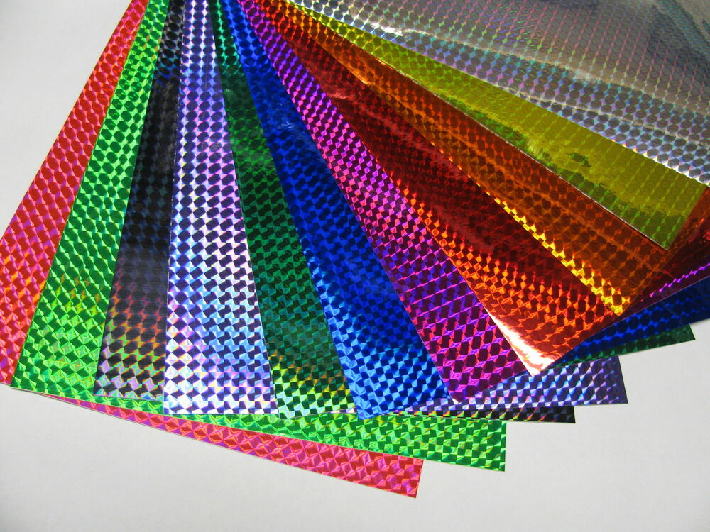 Any 3 Colors Holographic 1 4 Quot Mosaic Prism Sign Vinyl 8