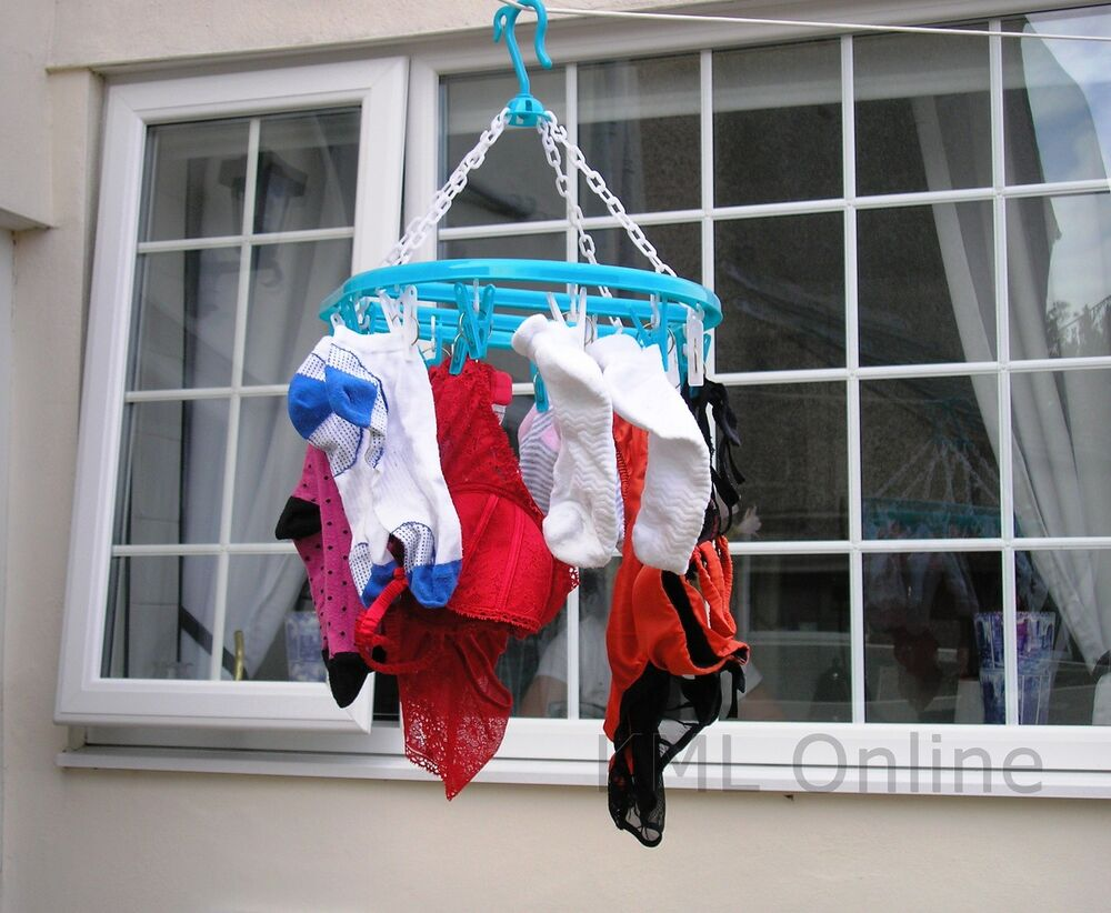 Hanging Clothes Laundry Washing Line Airer Dryer Indoor