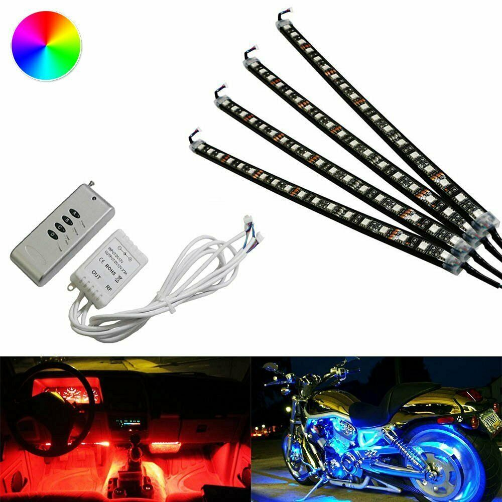 4 X 12 Quot Rgb 7 Color Led Knight Rider Scanner Car Interior