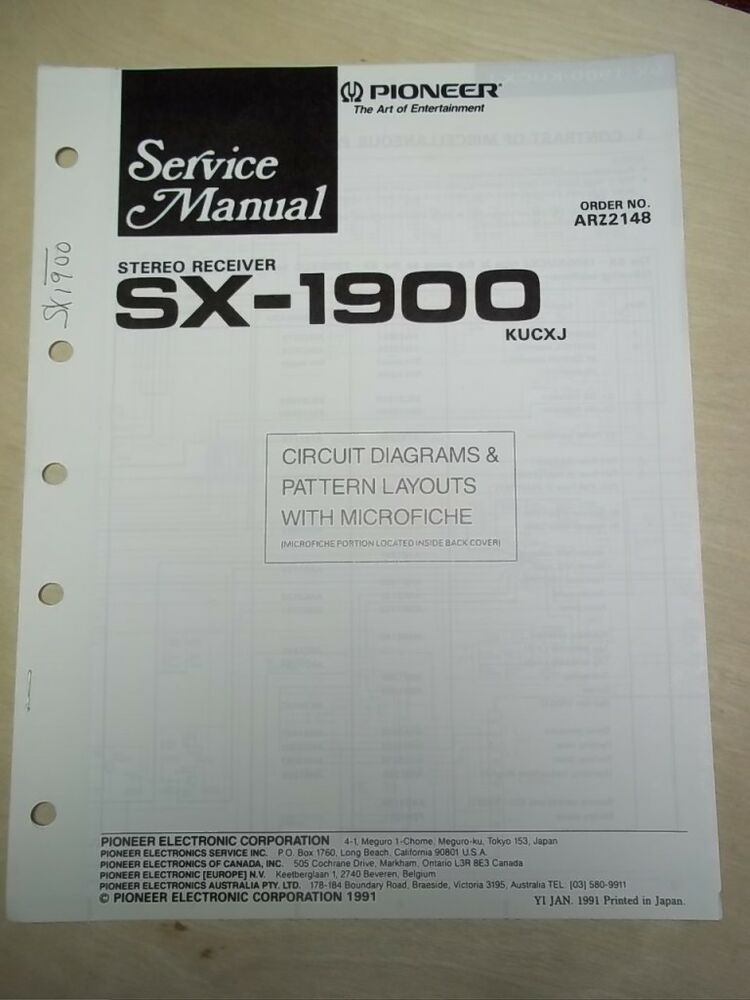 All pioneer free service instruction manuals