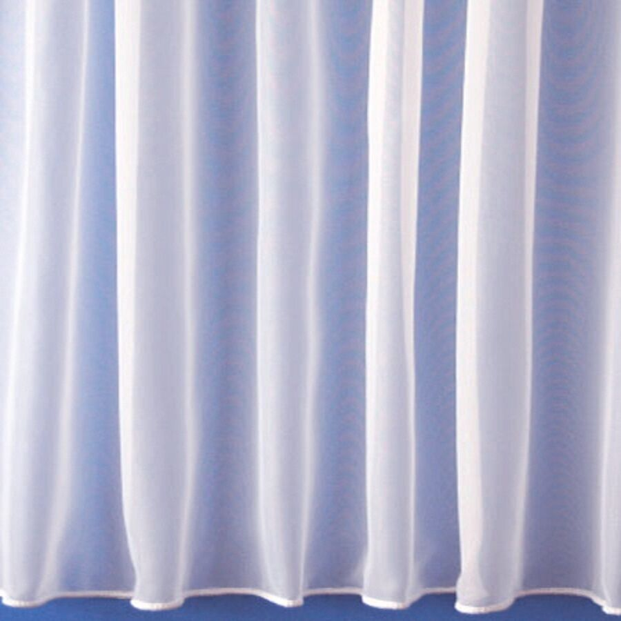Pure White Lead Weighted Plain Net Window Curtain 1146