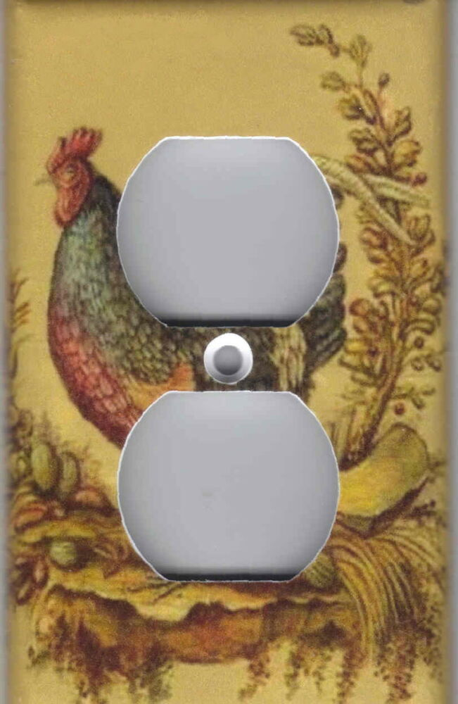 rooster 2 rooster kitchen home wall decor outlet cover