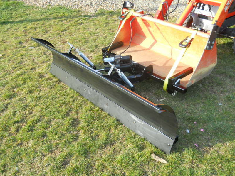 Front Mount Tractor Snow Plow : Tractor snow plow for loader buckets fits most compact