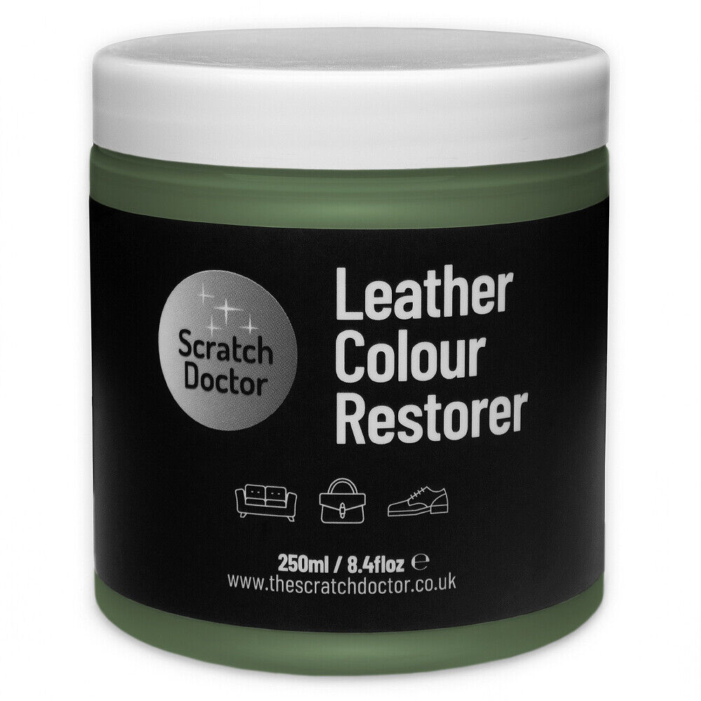 Dark Green Leather Dye Colour Restorer For Faded And Worn
