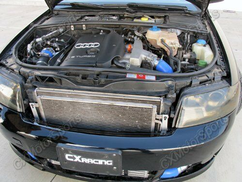 cxracing turbo intercooler kit cold ait intake for 02 05 audi a4 b6 1 8t ebay. Black Bedroom Furniture Sets. Home Design Ideas