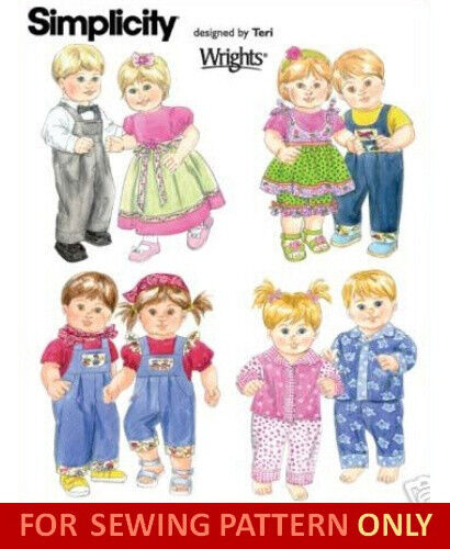 SEWING PATTERN! MAKE BABY DOLL CLOTHES! BOY~GIRL OUTFITS ...