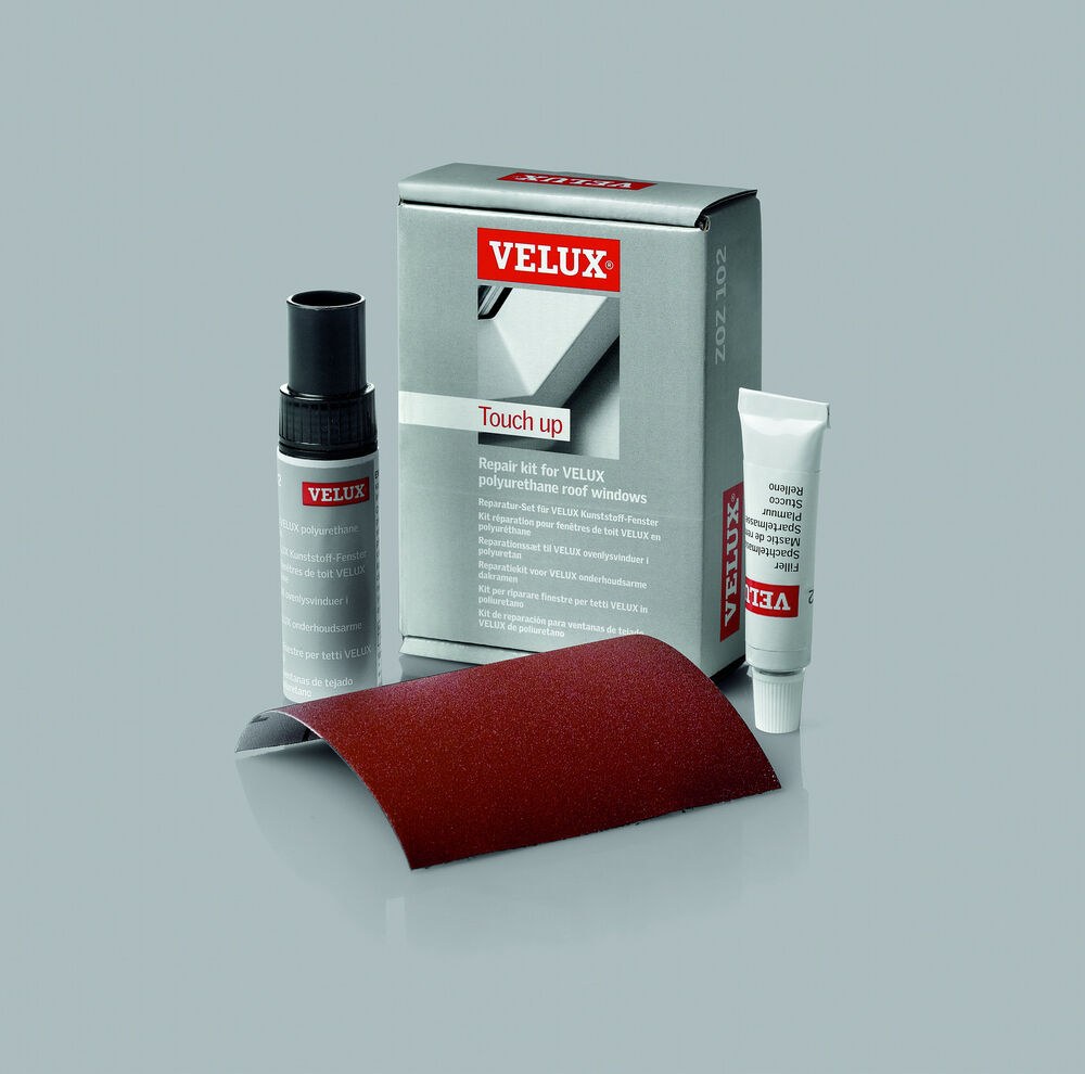 original velux lack reparatur set zoz 102 f r kunststoff fenster ebay. Black Bedroom Furniture Sets. Home Design Ideas