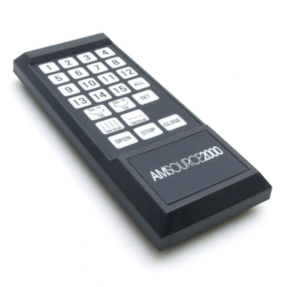Amsource 2000 blinds remote control ebay for Motorized blinds remote control