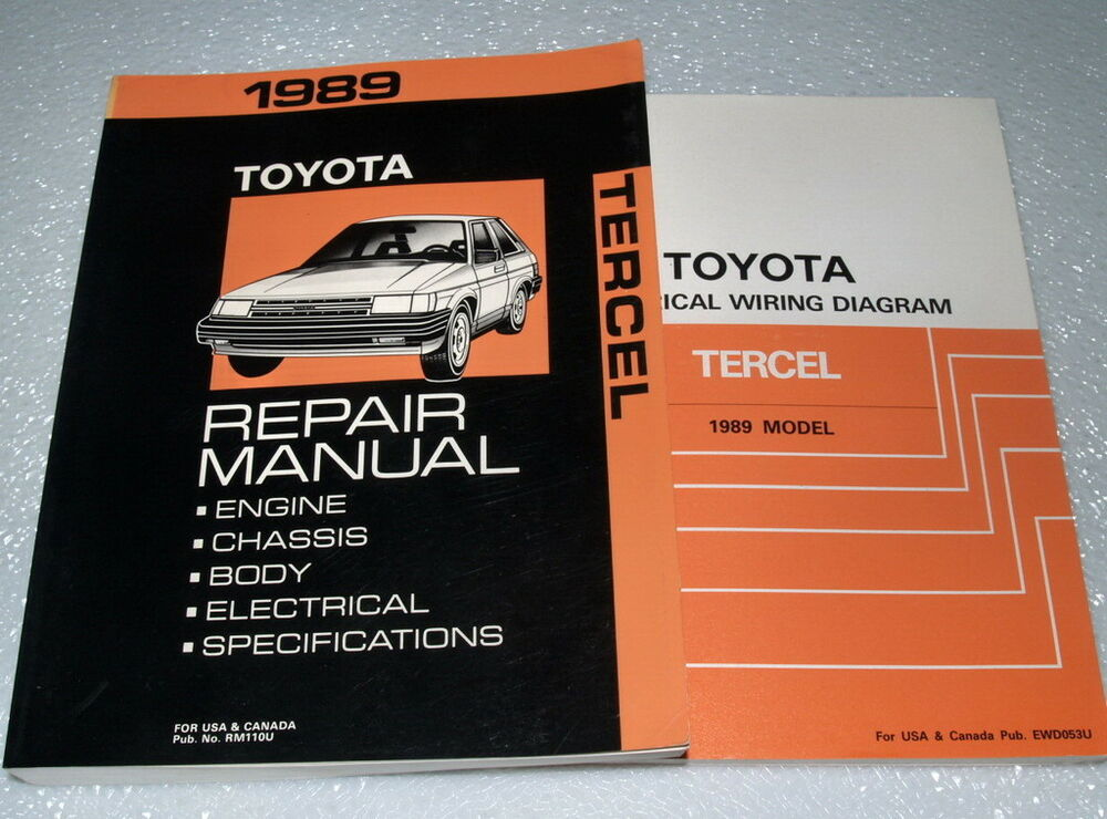 1989 Toyota Tercel Service Repair Manual  U0026 Electrical