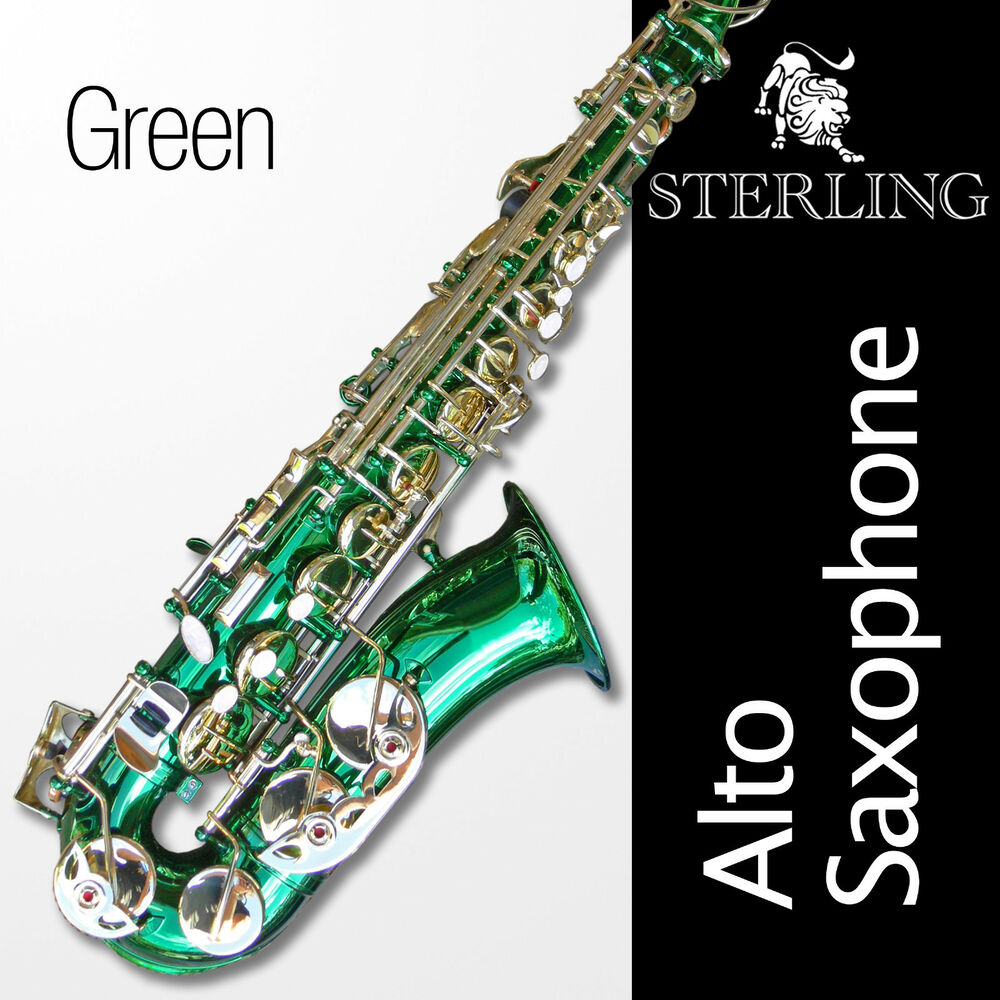 Green Alto Sax • Brand New STERLING Eb Saxophone • Case ...