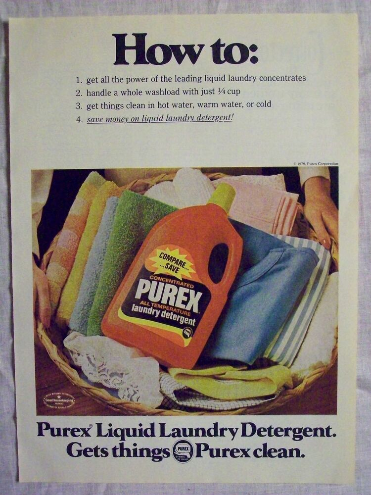 1978 Magazine Advertisement Ad Page For Purex Concentrated