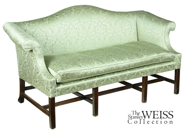 SWC-Small Scale Chippendale Mahogany Camelback Sofa,, C