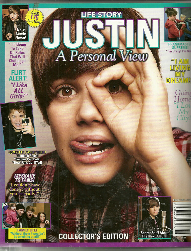 Life Story Magazine Justin Bieber A Personal View 2011 New: Life Story Magazine Justin Bieber A Personal View 2011 NEW