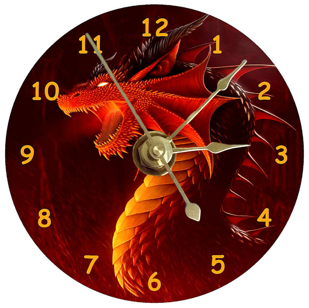 New Cool Red Dragon Cd Clock Ebay
