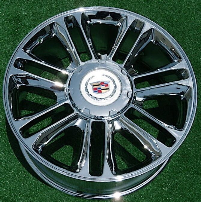 Used Cadillac Escalade Parts For Sale: NEW Cadillac Escalade PLATINUM Chrome EXACT OEM Factory GM Style 22 WHEEL 5358