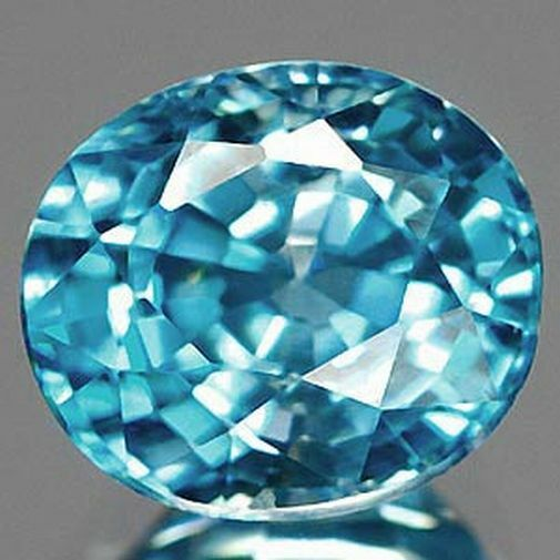 3 66 ct blue zircon oval gemstone ebay