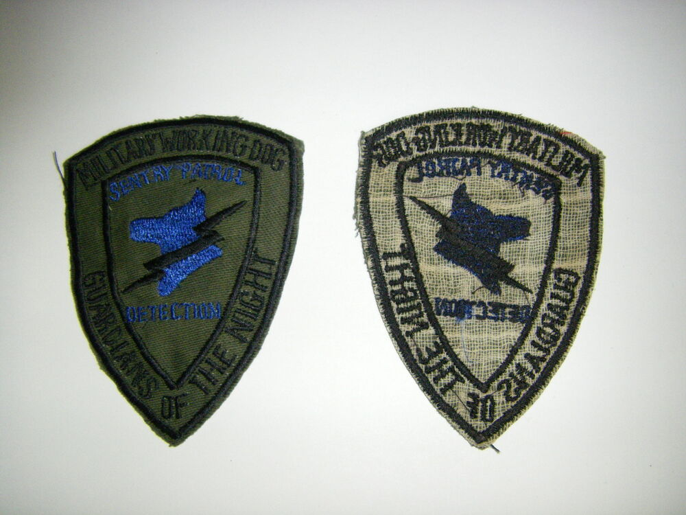0815 Vietnam Dog Patch Military Working Dog Guardians Of The Night Sentry