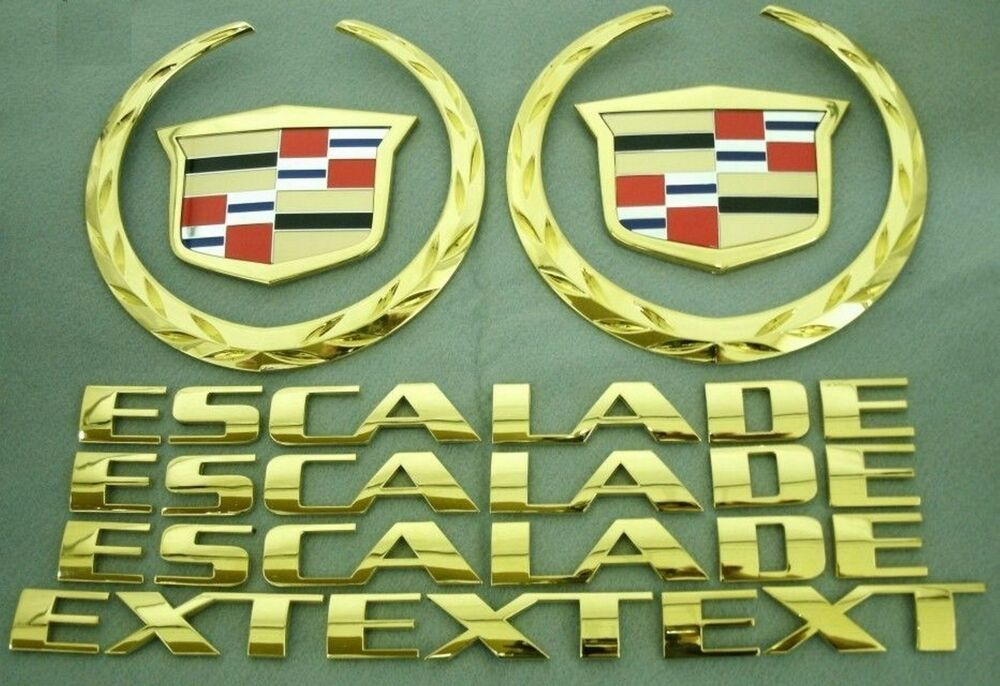 2002 2006 Cadillac Escalade Ext Gold Plated Emblem Kit Ebay