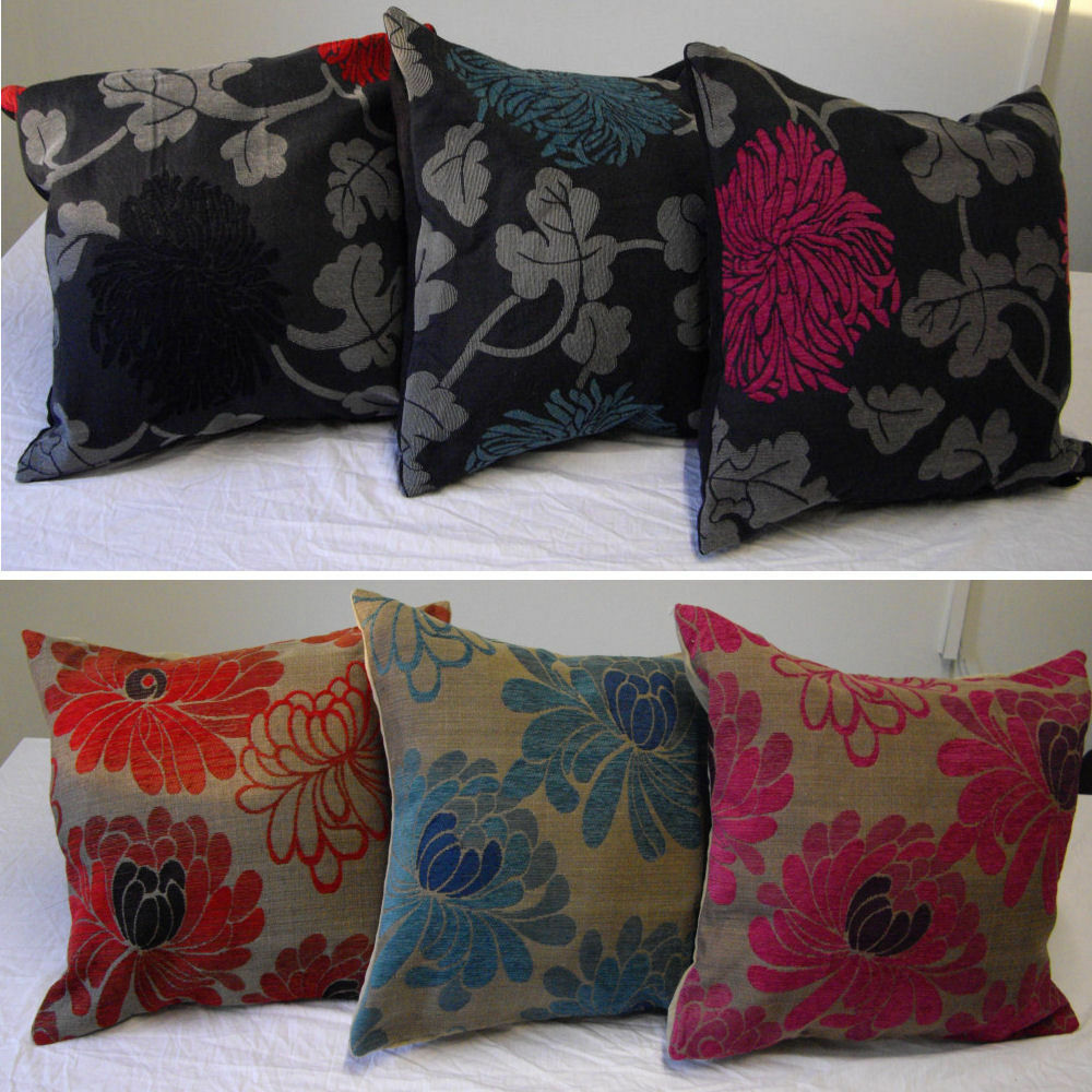 Scatter cushion covers for seat sofa chair embroidered vintage style reduced ebay Loveseat cushion covers