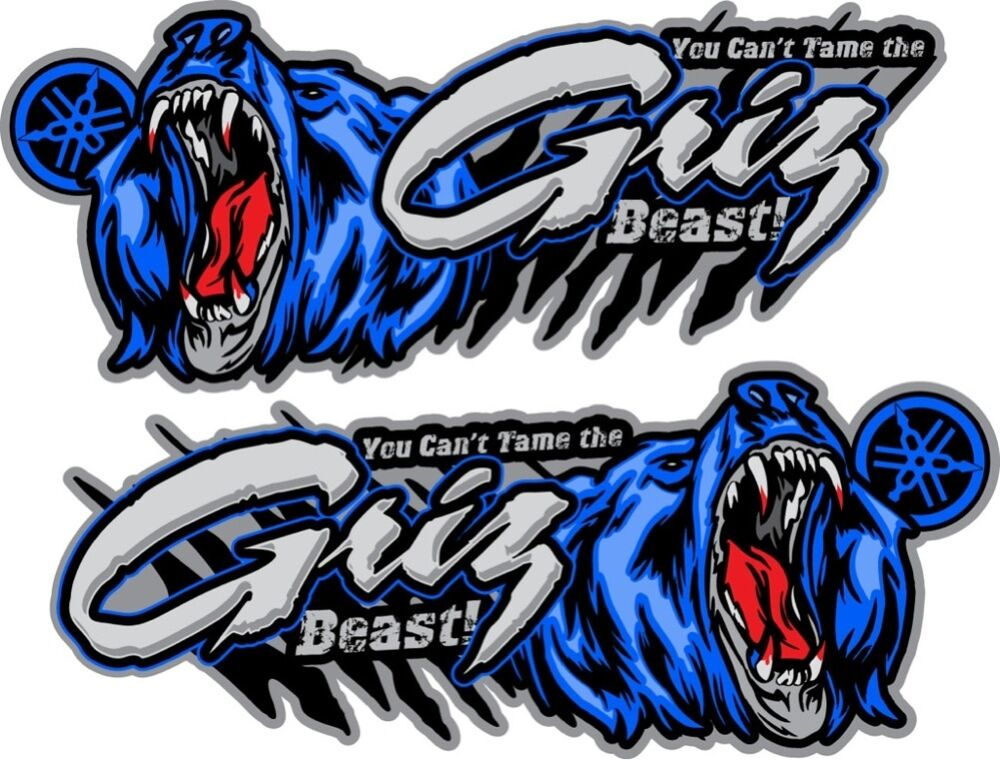 Yamaha Grizzly Stickers