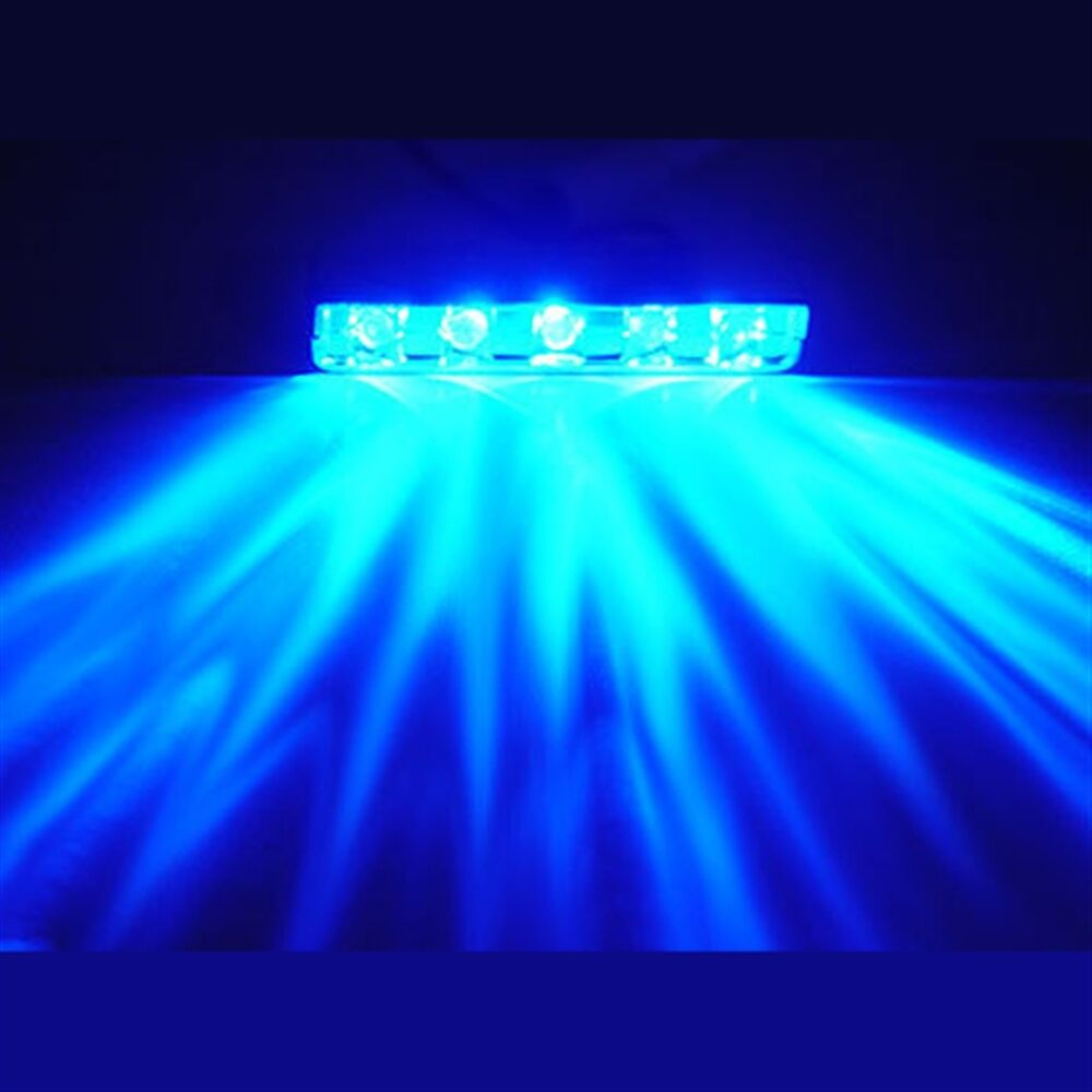 BLUE 5 LED POD ACCENT LIGHT Wire Attached Motorcycle/Car