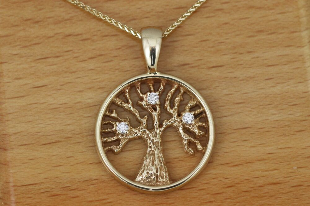 tree of family birthstone pendant 14kt yellow gold ebay