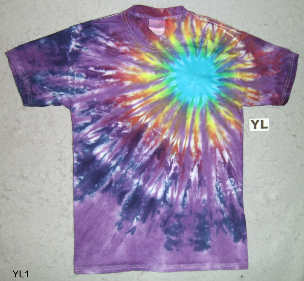 purple starburst tie dye kids t shirt ebay. Black Bedroom Furniture Sets. Home Design Ideas