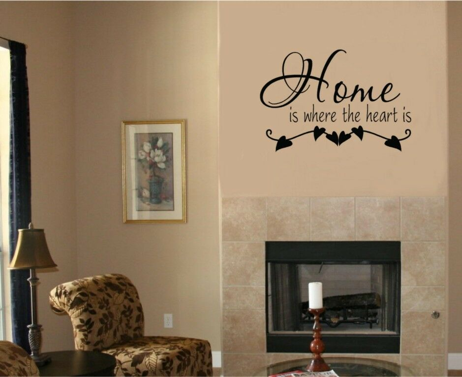 Home Is Where The Heart Is Vinyl Decal Sticker Wall