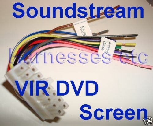 s l1000 soundstream wire harness vir 8000 5000 8007 8004 8006t ebay soundstream vir-7830 wiring harness at couponss.co