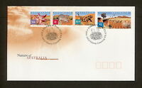 2002 FDC2208 SANDY DESERT (4) $2.00, $1.50, $1.00, 50c First Day Cover