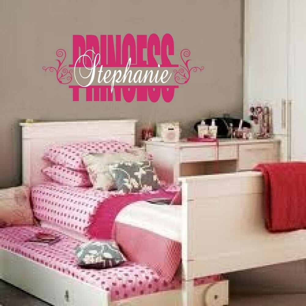 Personalized Custom Name Princess Vinyl Wall Decal Sticker