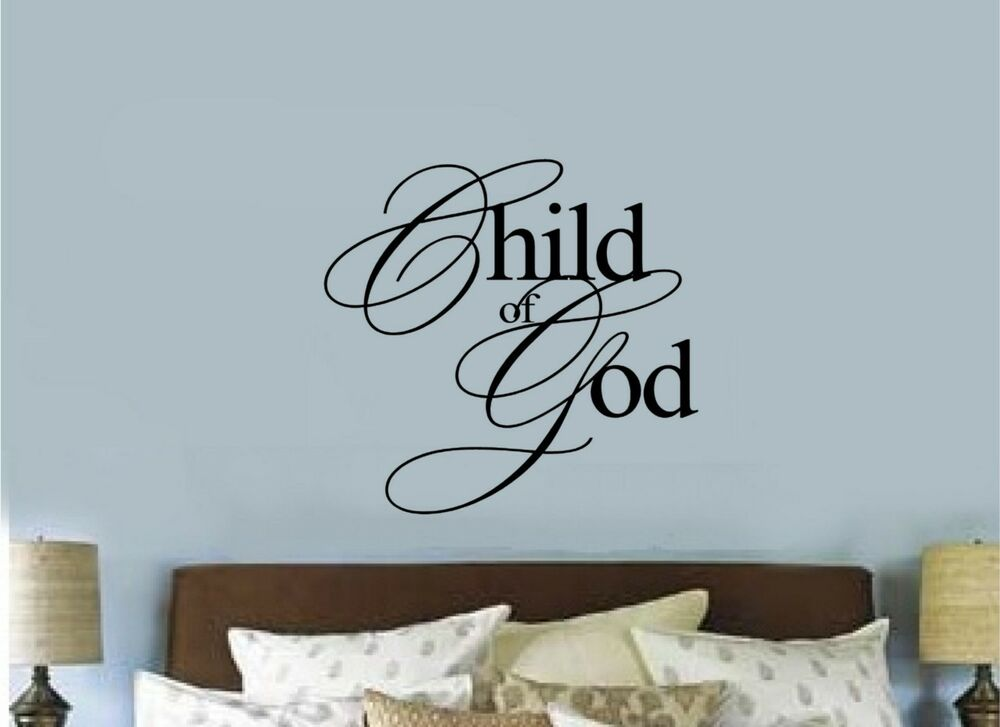 Child Of God Christian Religious Vinyl Decal Sticker Wall