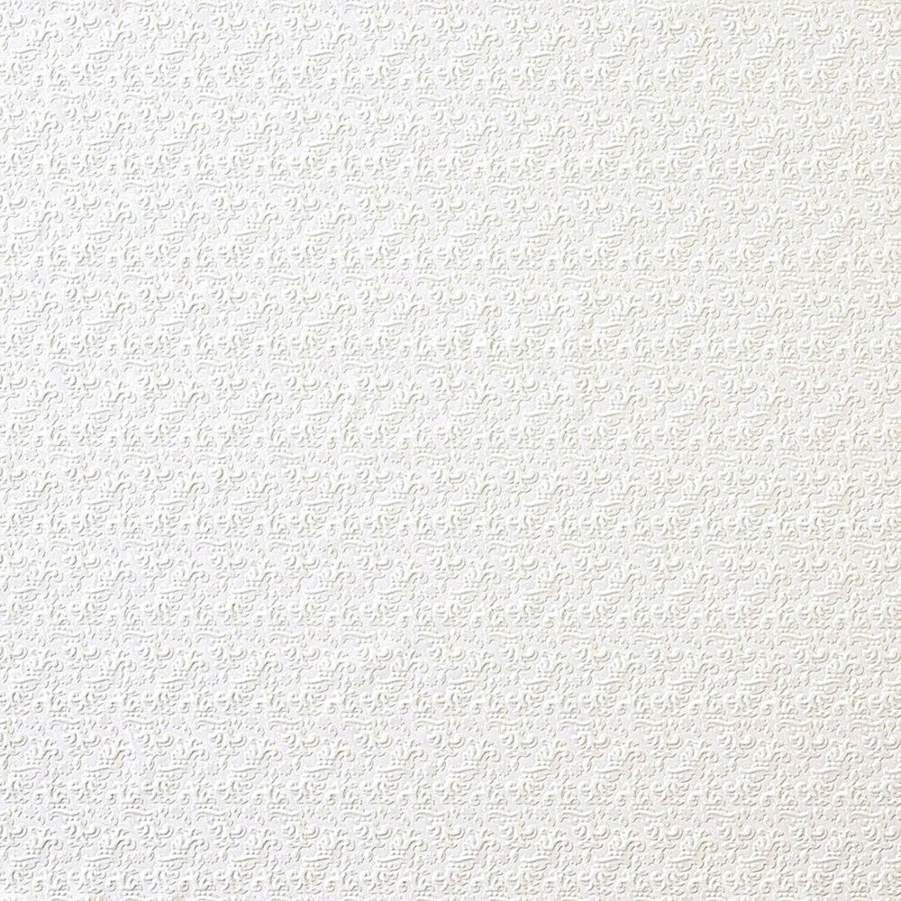 White repeated floral paintable wallpaper by brewster for Discontinued wallpaper