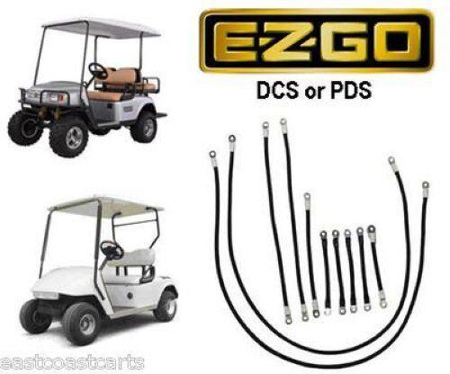 ezgo dcs or pds golf cart 4 gauge 600 volt cable set ebay. Black Bedroom Furniture Sets. Home Design Ideas