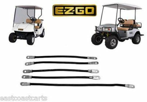 ezgo golf cart 4 gauge battery cable set ebay. Black Bedroom Furniture Sets. Home Design Ideas