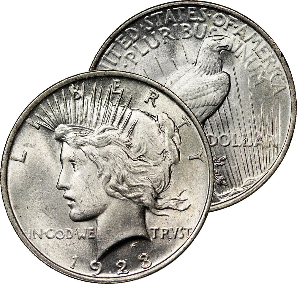 1923 Philadelphia Mint Peace Dollar Silver Mint State Coin