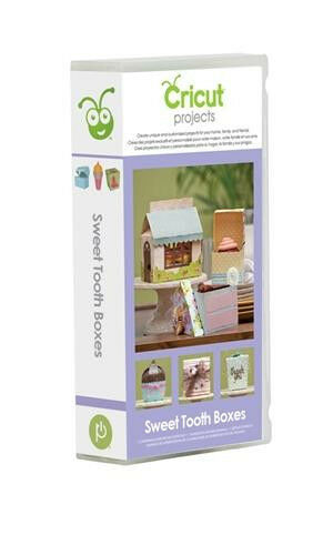 Cricut sweet tooth boxes projects cartridge 2001097 ebay for Cricut crafts to sell