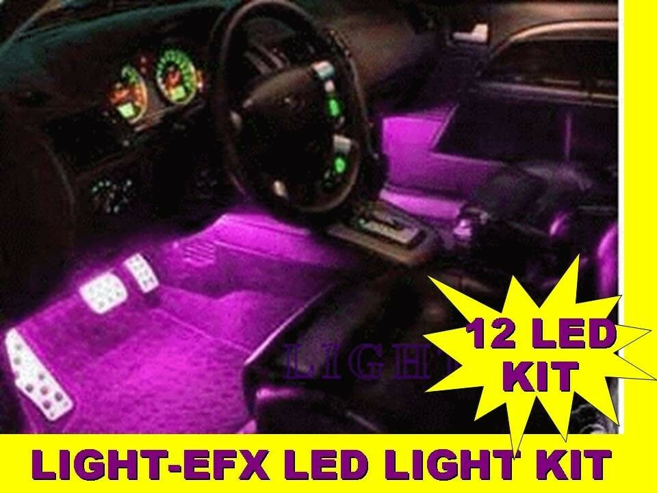 purple interior lights kit honda ebay. Black Bedroom Furniture Sets. Home Design Ideas