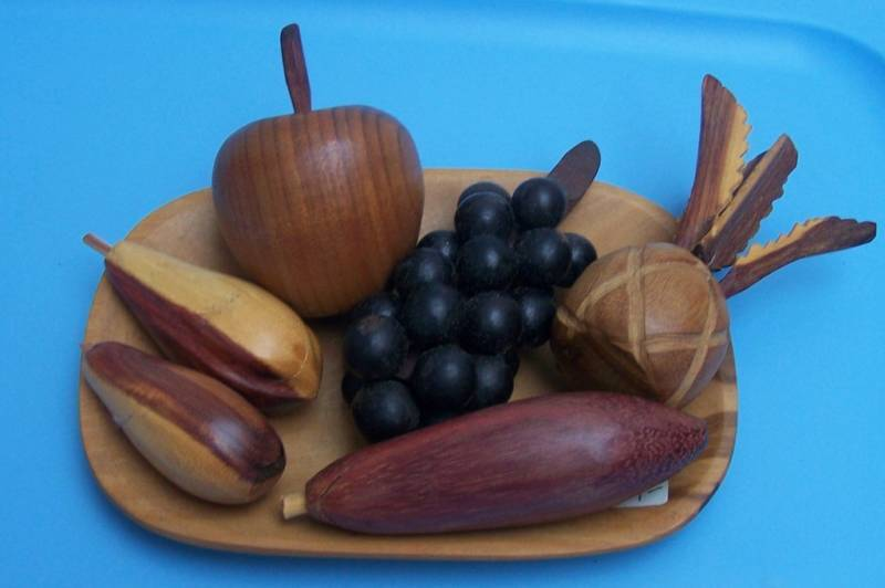 Hand carved wood fruit bowl made in venezuela ebay