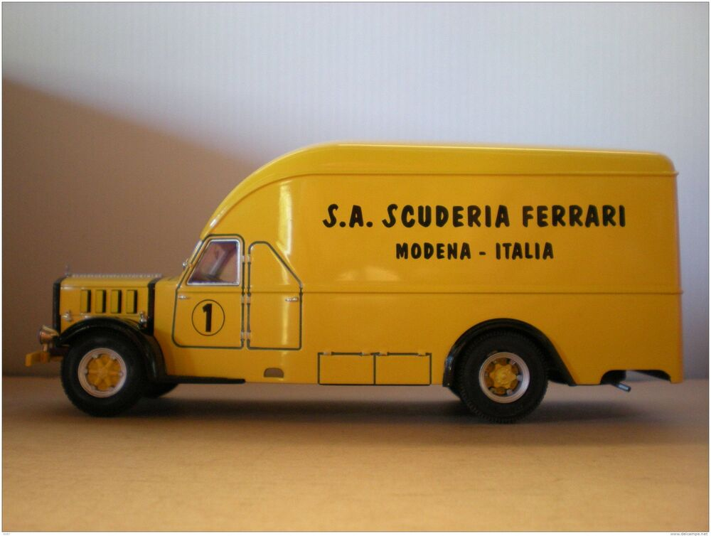 camion alfa romeo 500 car transporteur scuderia ferrari 1936 exoto 1 43 jaune ebay. Black Bedroom Furniture Sets. Home Design Ideas